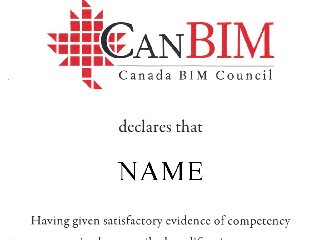 CanBIM Certification   Archgyan